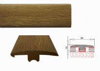 Flooring Accessories MDF Laminate Threshold Profile - .90m T Section - Worn Oak, 8mm